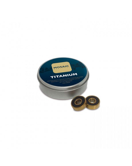 "Mosaic Super Titanium 1 Abec 7"" Bearings Black"